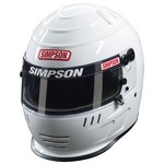SIMPSON SAFETY Jr Speedway Shark Large White 1786581