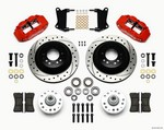 WILWOOD Front Disc Brake Kit Red 67-72 Camaro Nova 12.88 140-12271-DR