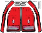 ALLSTAR PERFORMANCE M/C SS Tail Decal Kit 1983-88 23017