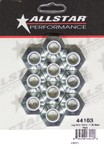 ALLSTAR PERFORMANCE Lug Nuts 12mm-1.25 Steel 10pk 44103