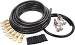 ALLSTAR PERFORMANCE Battery Cable Kit 4 Ga. 1 Battery All Black 76115