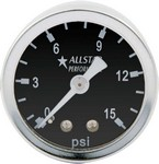 ALLSTAR PERFORMANCE 1.5in Gauge 0-15 PSI Dry Type 80210