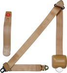 ALLSTAR PERFORMANCE Seat Belt Retractable 3pt Tan 98118