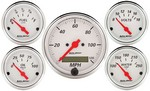 AUTO METER Arctic White Gauge Kit W/Red Pointer 1302