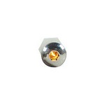 DESIGN ENGINEERING Lighted Button Head Bolt Pair Amber 30305
