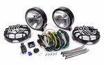 KC HILITES 6in Slimlite Black Driving Lights 124