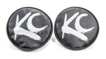 KC HILITES 6in Round Black W/ White Brush 5117