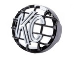 KC HILITES 4in Black Rally Stone Guard Each 7219