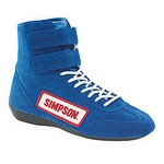 SIMPSON SAFETY High Top Shoes 9 Blue 28900BL