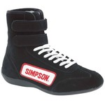 SIMPSON SAFETY High Top Shoes 9.5 Black 28950BK