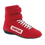 SIMPSON SAFETY High Top Shoes 9.5 Red 28950R