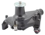 TUFF-STUFF SBC Water Pump Long Black Cast 1449NC