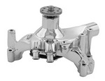 TUFF-STUFF BBC Long Water Pump Chrome Supercool 1461NB