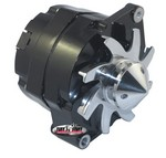 TUFF-STUFF GM Alternator Silver Bul let 140 amp 1-Wire Black 7140FBULL12