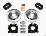 WILWOOD 67-72 GM C-10 P/U Rear Brake Kit Black Caliper 140-10094