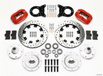 WILWOOD Front Disc Brake Kit Red HD 65-69 Mustang 140-11072-DR