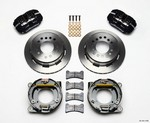 WILWOOD 67-72 GM C-10 P/U Rear Brake Kit Black Caliper 140-11385
