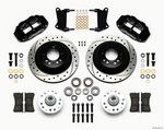 WILWOOD Front Disc Brake Kit Blk 67-72 Camaro Nova 12.88 140-12271-D