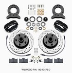 WILWOOD Front Disc Brake Kit 65- 69 Mustang Drilled 140-13476-D