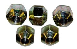 A-1 10530 5/8-11 DOUBLE END STEEL LUG NUTS, 10 pack